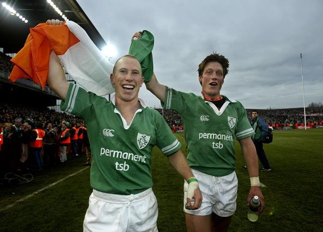 Peter Stringer, Ronan O'Gara, Ireland